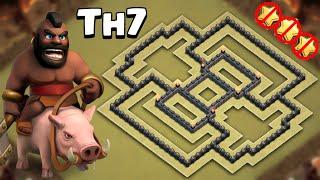 Clash of Clans | Best Town hall 7 (TH7) War Base 2016! | Anti drag / Anti Hog / Anti giants
