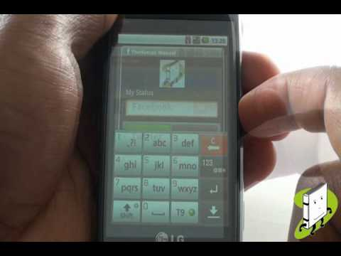 How to use the SNS application LG GW620   The Human Manual