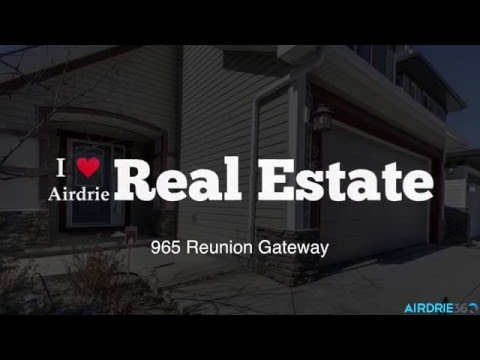 OPEN HOUSE 965 Reunion Gateway Airdrie, AB.