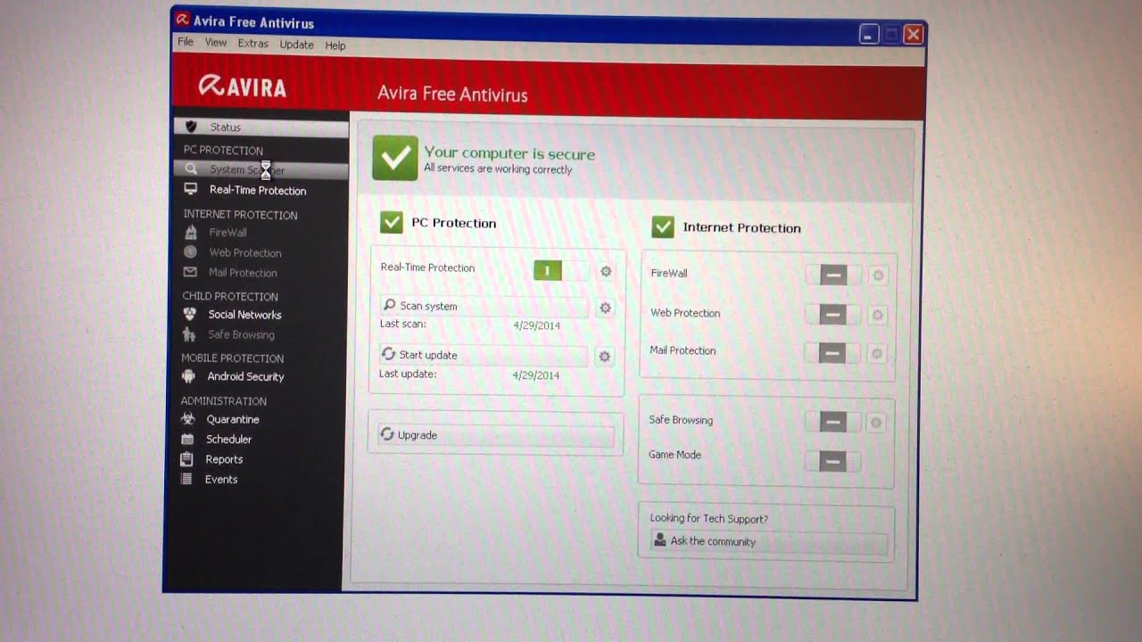 AVIRA GRATUIT CENTER TÉLÉCHARGER CONTROL ANTIVIR