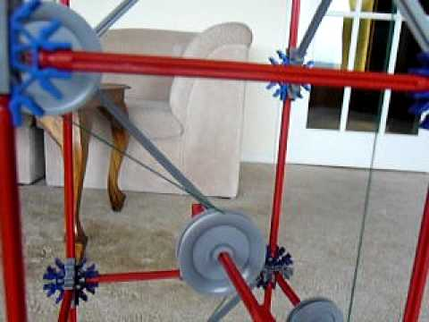 knex pulley system #2 - YouTube