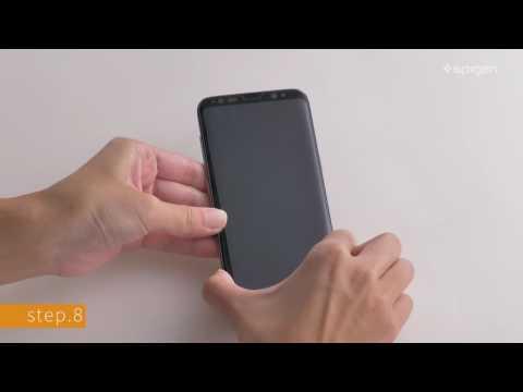 Spigen GLAS.tR Full Face Tempered Glass Black (Galaxy S8+)