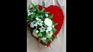 Видео обзор: Ритуальное сердце из искусственных цветов(Траурный ритуальный венок в форме сердца полностью из искусственных цветов. Размер 70 см. Заказать венок..., 2015-12-05T12:23:44.000Z)