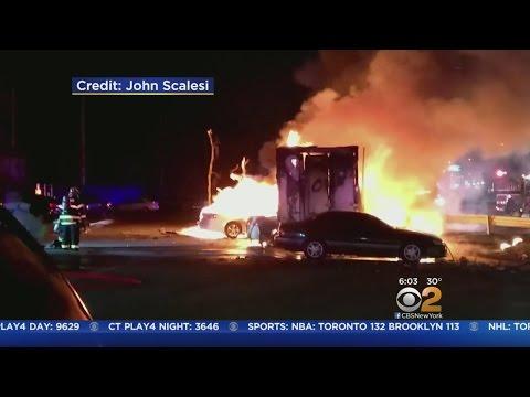One Killed In Fiery Sunrise Highway Crash