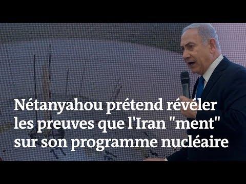 En direct à la télévision israélienne, Nétanyahou accuse l'Iran de dissimuler un programme nucléaire