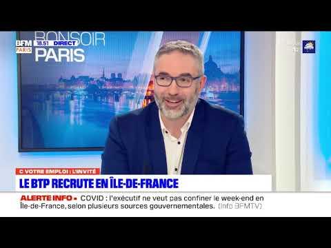 Emploi et formation dans le BTP en 2021 : Manpower en interview sur BFM Paris