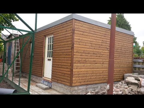 DIY uk shed build 6.4m x 3.8m