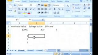 How to Calculate Double-Declining Depreciation Using Microsoft Excel