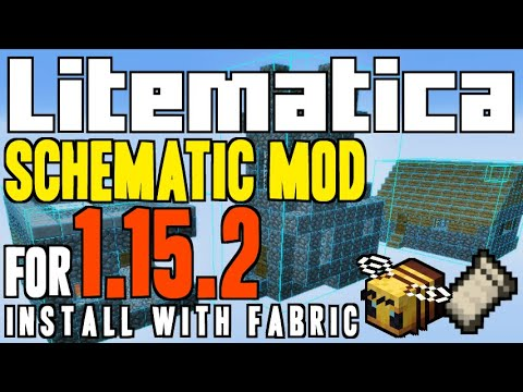 LITEMATICA MOD 1.15.2 Minecraft - How To Download Install [a Schematica Mod] With Fabric On Windows