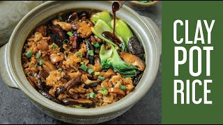 Hong Kong-Style Vegan Clay Pot Rice with Mushrooms and Tofu