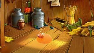 Мультики для детей Басни Эзопа Мухи и мед Смотреть онлайн анимация картинок