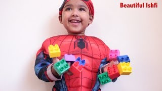 Funny Baby Loves to Learn Colors with Blocks & Fininger Family Song | Beautiful Ishfi