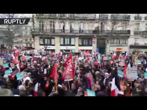 Thousands rally in support of leftist Jean-Luc Melenchon in Paris