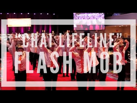 Chai Lifeline Flash Mob with 100 Male Dancers Choreography by Derek Mitchell