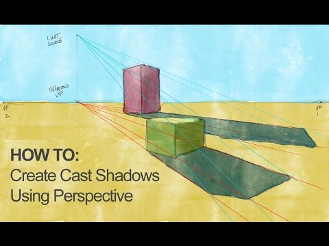 How to Draw and Paint Cast Shadows