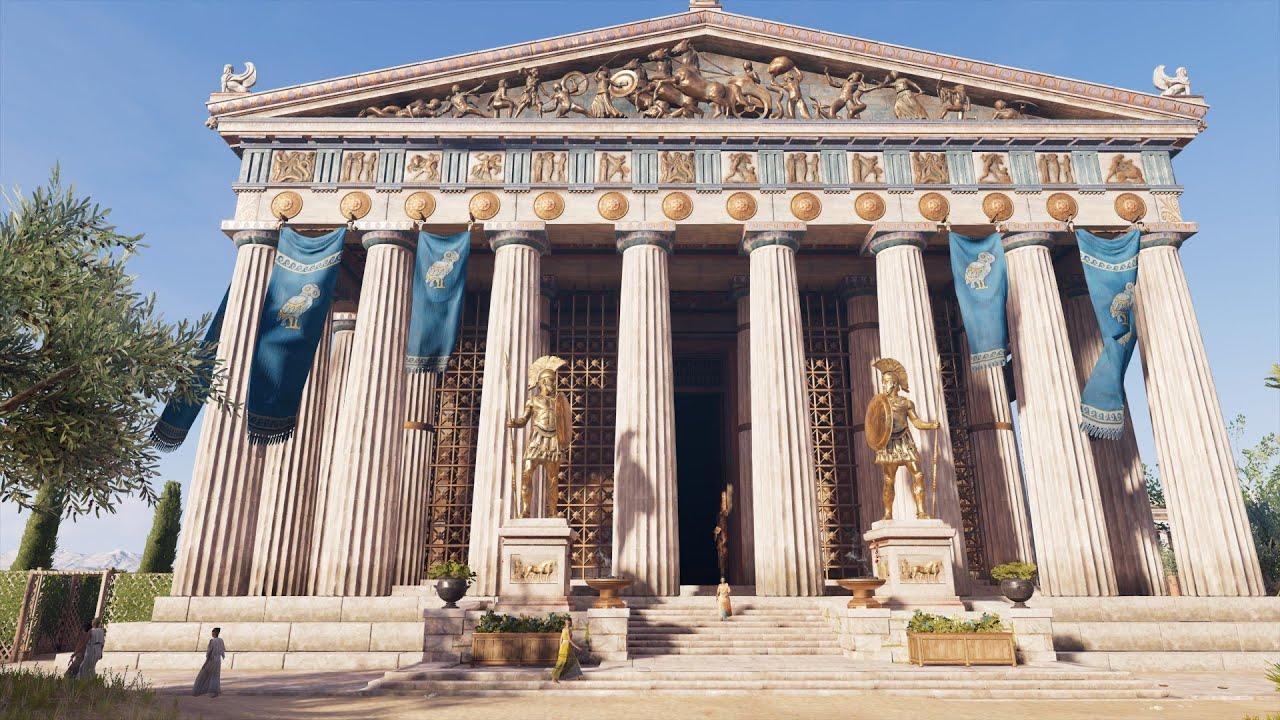 著名的希臘帕德嫩神殿復原圖/建議以高畫質觀賞3 - YouTube