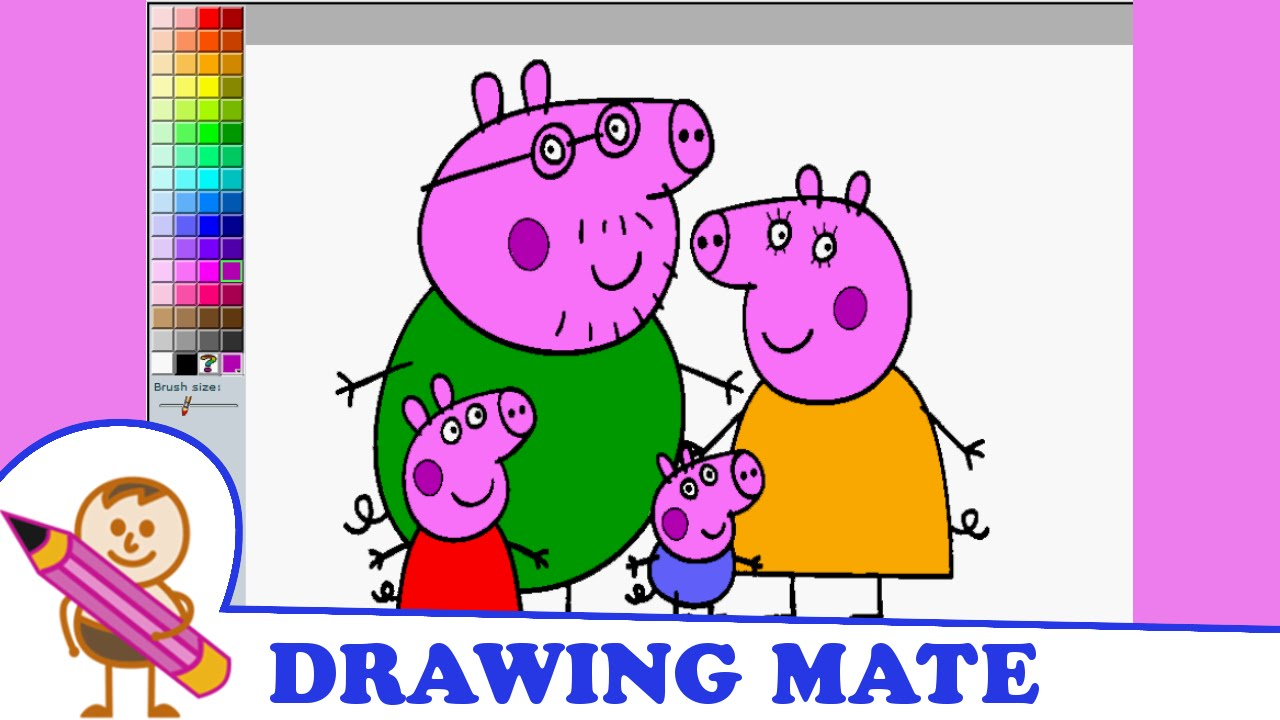 Peppa Pig Coloring Pages Colouring Game Kolorowanki Malowanki