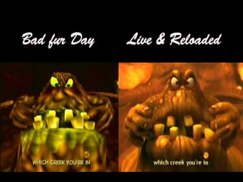 Conker's Bad Fur Day vs Live and Reloaded: The Great Mighty Poo