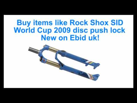 rock shox sid world cup 2009 race suspension forks disc pushlock for  mountain bike mtb