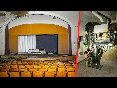 UNTOUCHED Abandoned Theater with Vintage Movie Projector - Urbex Lost Places Germany