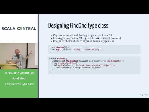 [Scala Central] Josef Vlach - Roll your own Type class