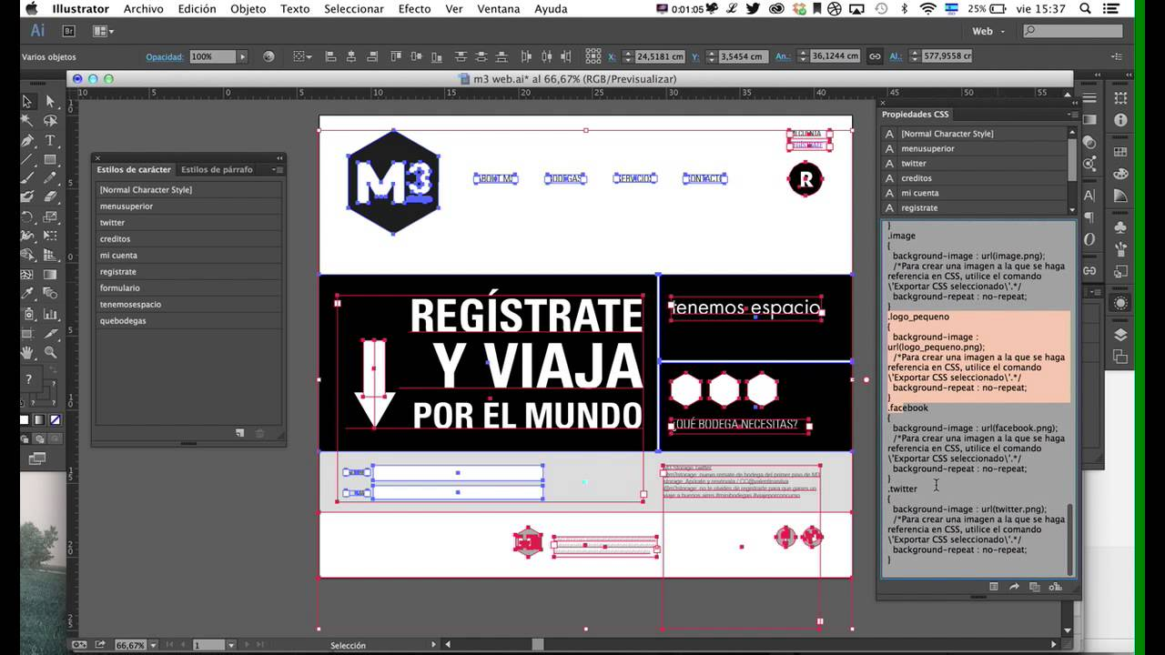 Illustrator: Generar css e imágenes (assets) para diseño web - YouTube