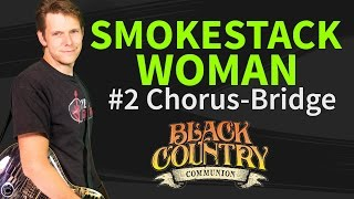 Guitar lesson: How to play Smokestack woman 2/2 by Black Country Communion - chorus&bridge