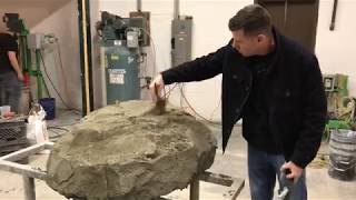 Rock Carving Final Steps - Concrete Rock Carving