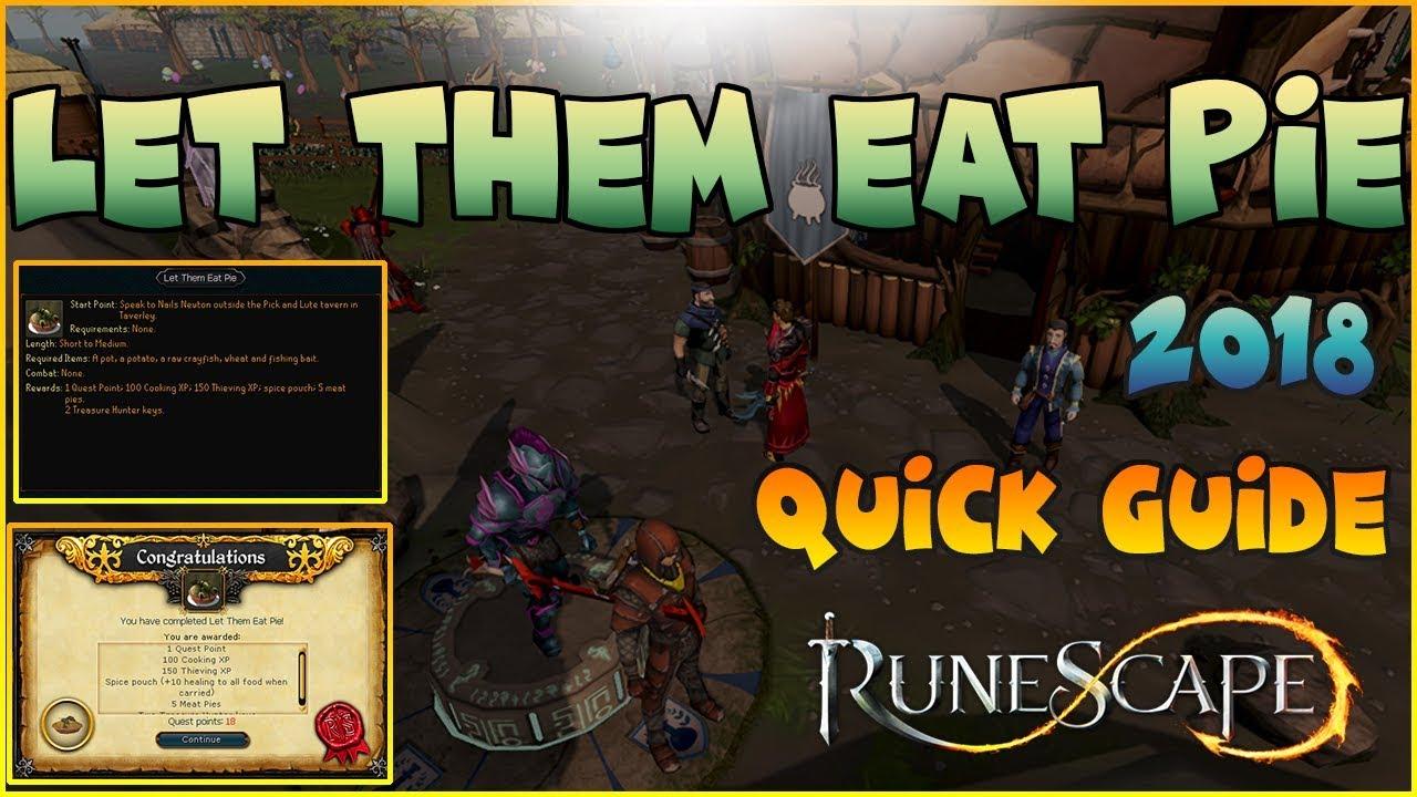 Let Them Eat Pie Runescape 3 Quick Guide 2018 - Education Video