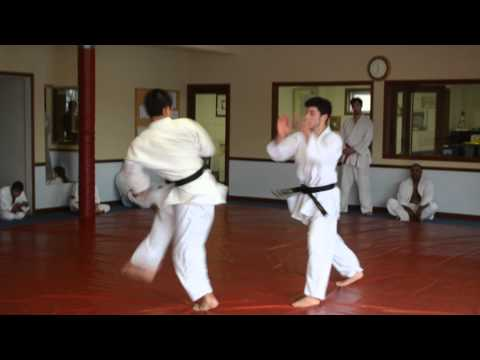 martial-arts-school-lombard-illinois- -chang's-hapkido-academy- -choking-skills- -one-step-sparring