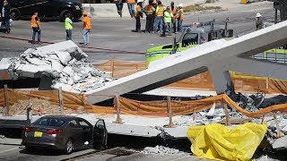 В Майами рухнул мост: не менее четверых погибших