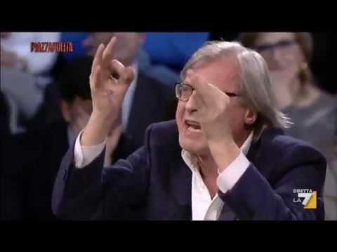 Vittorio Sgarbi: 'Le pale eoliche nel culo!'