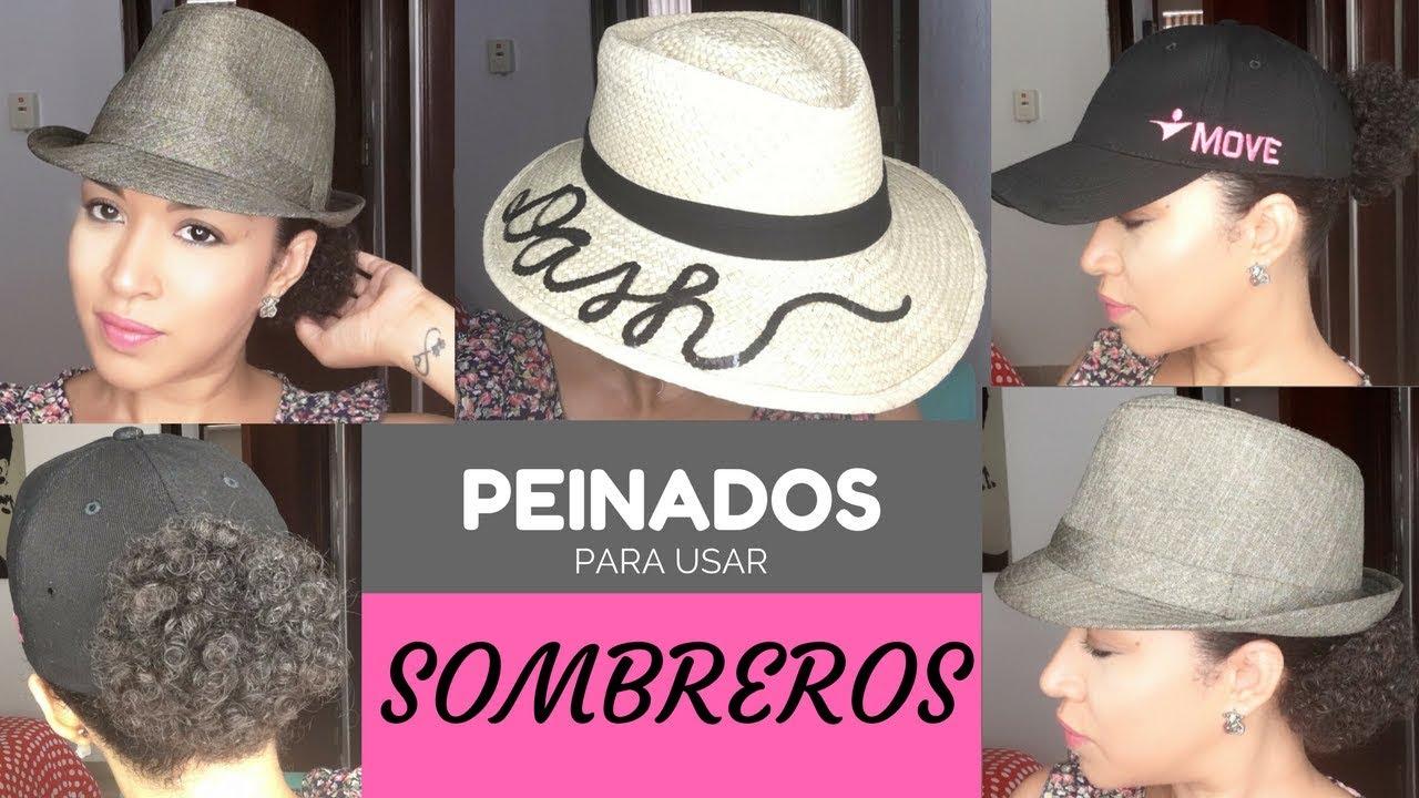 ed59e3374ed4 Peinados para usar Sombreros - Cabello Rizado Corto