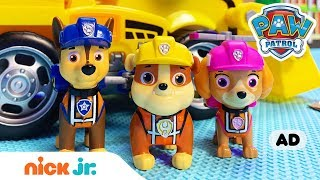 PAW Patrol Toy Episode 🐶 Ultimate Construction Rescue w/ Chase, Marshall & More! | Nick Jr.