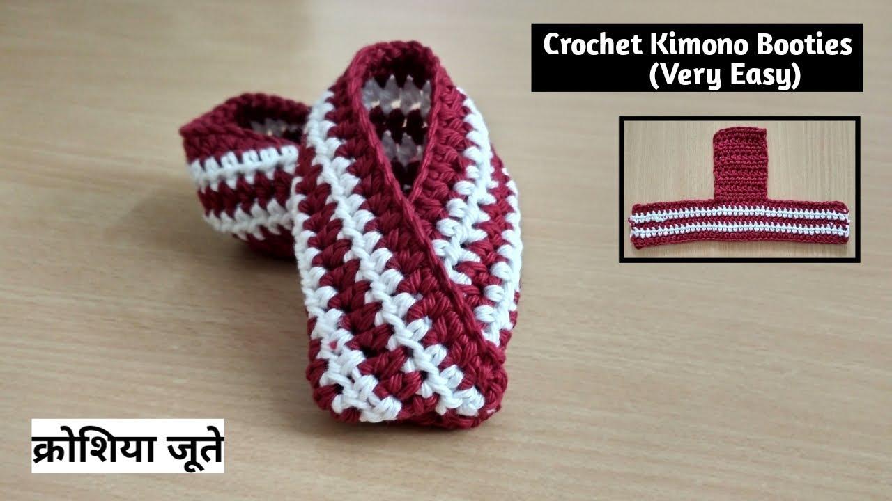 Crochet Kimono Baby Booties