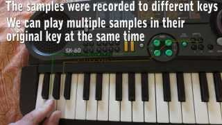 Instructional: Looping on the Casio SK-60 Sampling Keyboard
