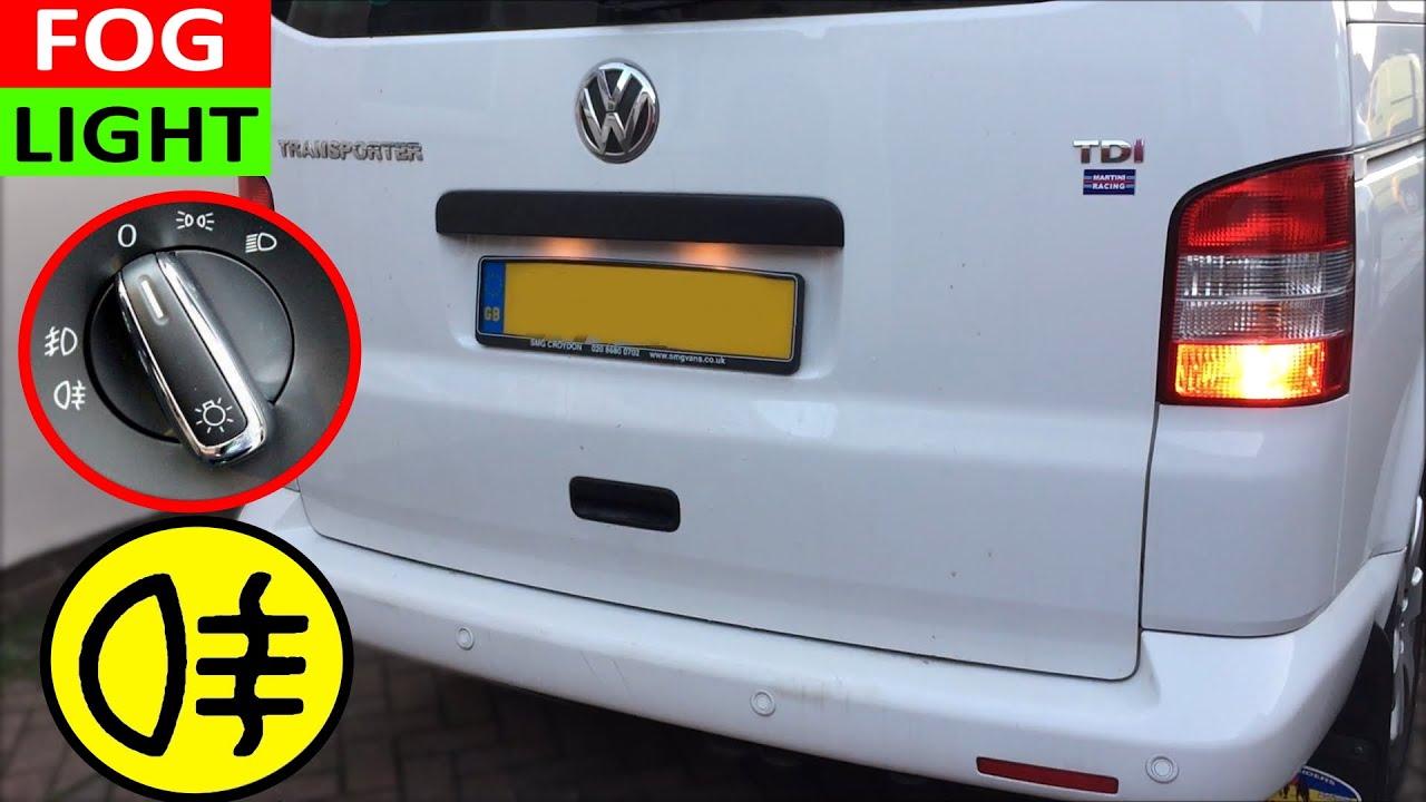 How to turn on Fog Lights on VW T5 Transporter
