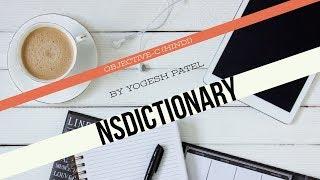 الهدف ج :- كيفية إنشاء واستخدام NSDictionary و NSMutableDictionary في دائرة الرقابة الداخلية أحدث 2017(Hindi)