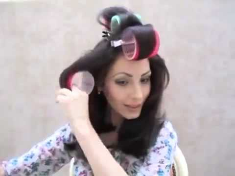 Как выпрямить волосы в бигудями