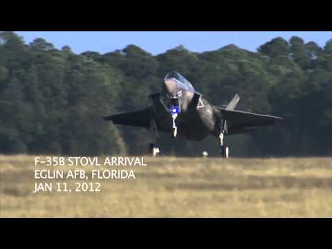 F-35 Arrives at Eglin Air Force Base, Florida