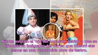 Difunden imágenes del día en que Niurka mostró los senos en obra de teatro