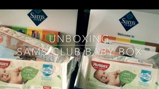 Unboxing Sam's Club Baby Box