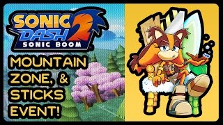 Sonic Dash 2: Sonic Boom - Mountain Zone + Sticks Event! (1080p/60fps/Widescreen)
