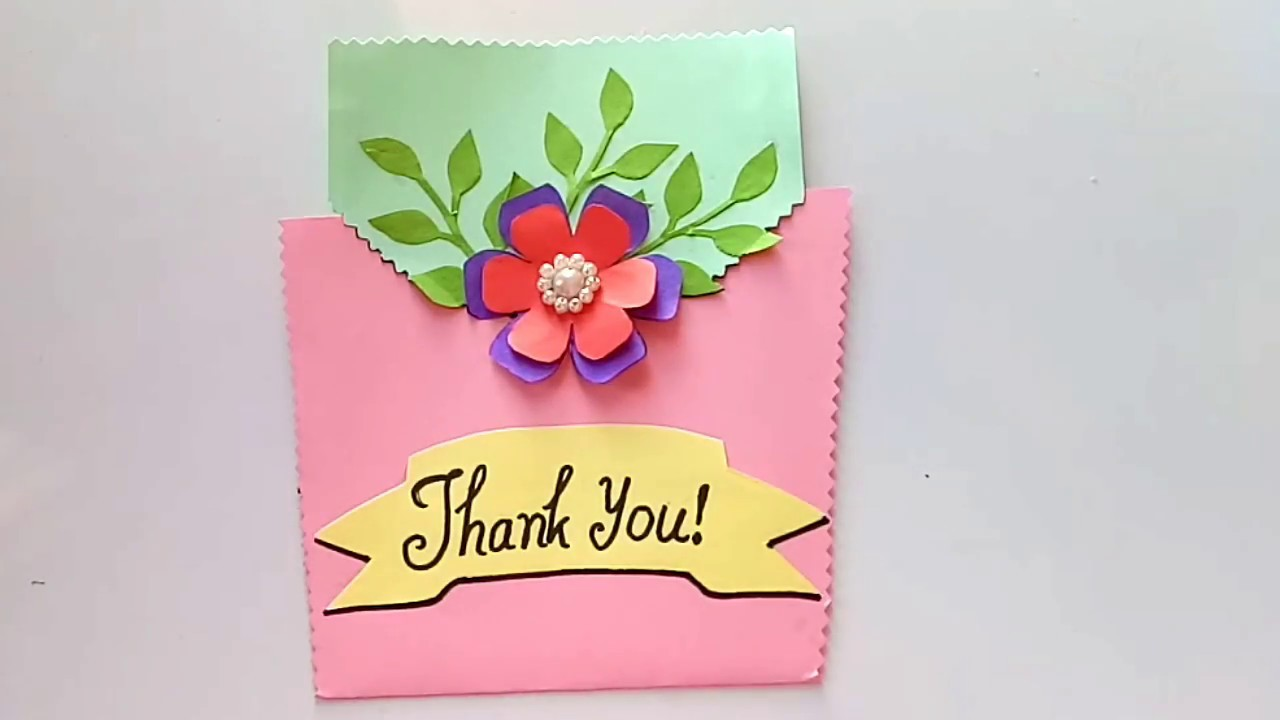 How To Make Greeting Cards Thank You Card Ideas Youtube