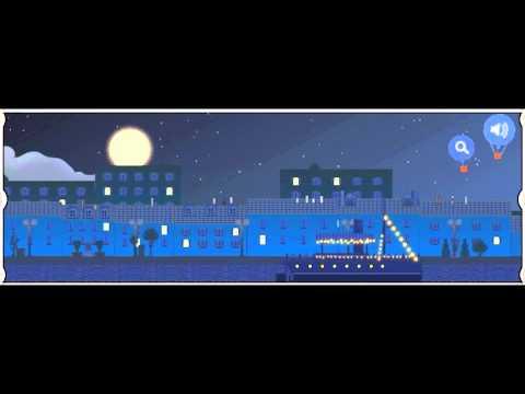 Google Doodle: Claude Debussy Doodle [Clair de Lune] Full HD/Laggfree (1080p)