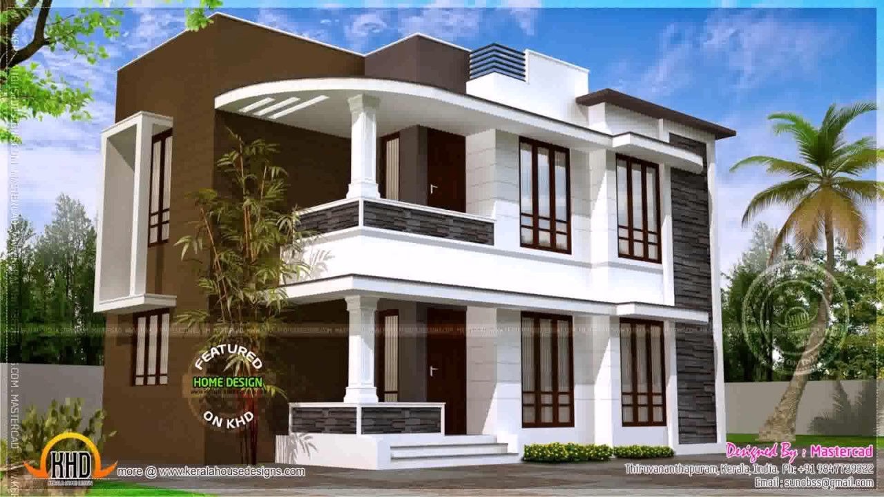 Low Budget Modern House Designs In India - YouTube