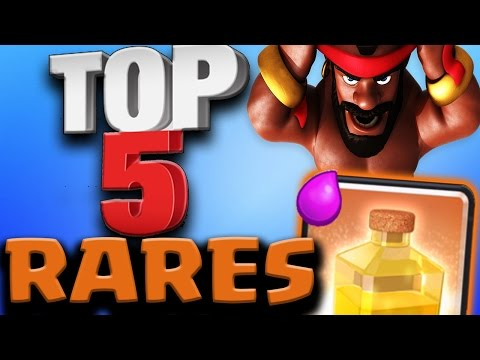 Top 5 BEST RARE CARDS IN CLASH ROYALE After Update 2017 | Clash Royale
