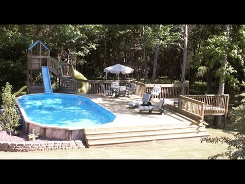 Above ground pool deck inspiration gallery youtube - Images of above ground pools ...
