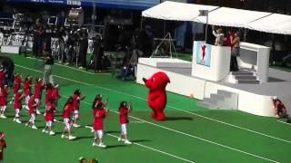 「ゆめ半島千葉国体」開会式で踊るチーバくん