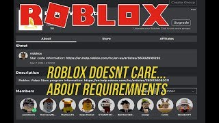 Roblox Rant Exposures #4 - VIDEO STAR PROGRAM REQUIREMENTS